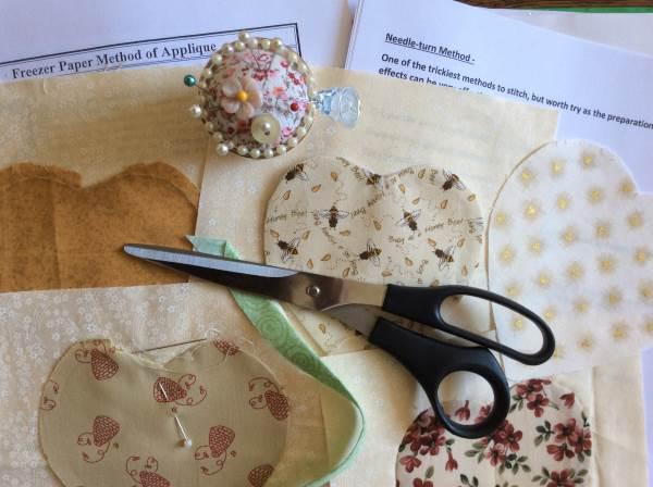 Needleturn Applique workshop with Jane Cobbett at Poppy Patch