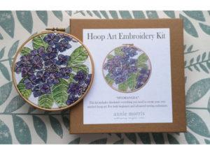 Annie Morris Embroidery Hoop Kit Hydrangea