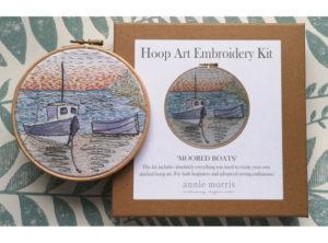 Annie Morris Embroidery Hoop Kit Moored Boat