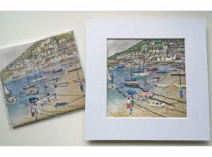Annie Morris Linen Embroidery Panel Low Tide