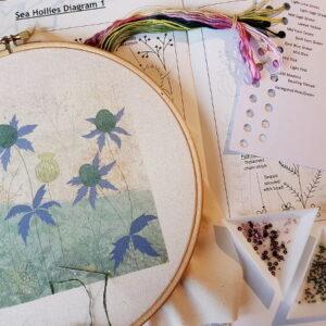 Beaks and Bobbins Sea Holly Stitchery Kit by Amy Butcher