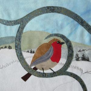 Bird Appliqué Composition Robin workshop with Kate Findlay