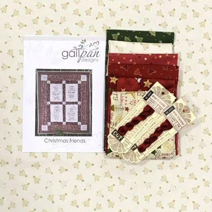Gail Pan Christmas Friends Stitchery Wall Hanging Kit