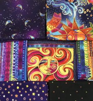Clothworks Celestial Magic Fat Quarter and Panel Pack by Laurel Burch
