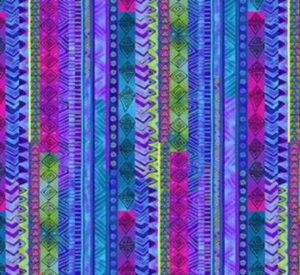 Clothworks Celestial Magic Purple Stripe by Laurel Burch