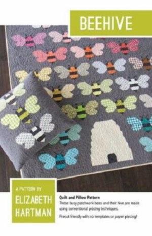 Elizabeth Hartman Beehive Quilt and pillow Pattern