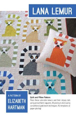 Elizabeth Hartman Lana the Lemur Quilt Pattern