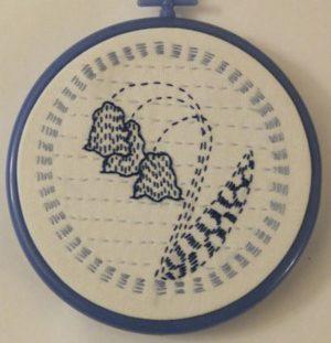 Fenland Textile Kantha Kit Bluebell Kit by Angela Daymond