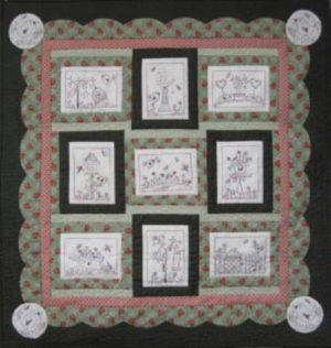 Fig N Berry Through the garden Gate Mini Quilt Pattern