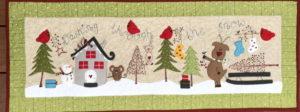 Fig n Berry Dashing Through the Snow Tablerunner Pattern