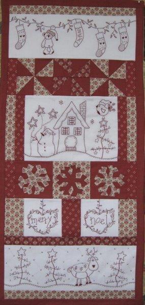 Fig n Berry Merry Noel Christmas Wall Hanging Pattern
