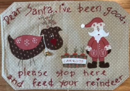 Fig n Berry Santas Treat Mat Pattern by Lisa Cantlay