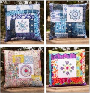 Flying Fish Mandala Cushions Pattern by Wendy williams