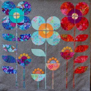 Free Bird Designs Blossoming Garden Quilt Pattern by Carolyn Murfitt