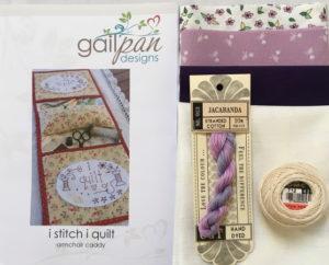 Gail Pan I Stitch I Quilt Armchair Caddy kit