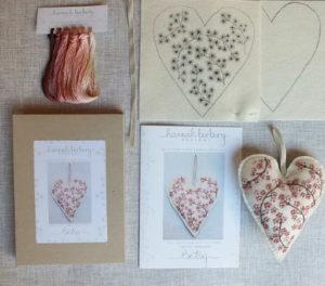 Hannah Burbury Betsy Blossom Embroidery Heart Kit