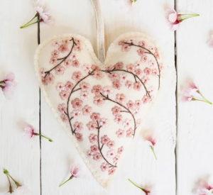 Hannah Burbury Betsy Blossom Tree Embroidery Heart Kit