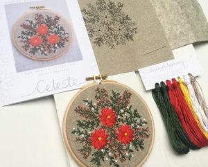Hannah Burbury Celeste Embroidery Hoop Kit