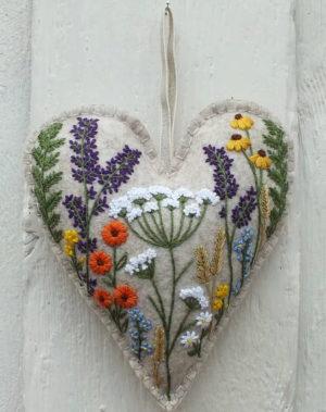 Hannah Burbury Florence Flower Heart Embroidery Kit