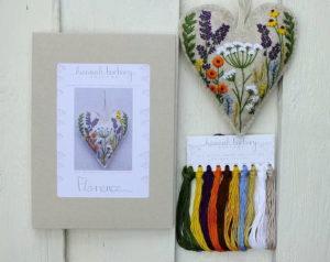 Hannah Burbury Florence Flower Heart Hand Embroidery Kit