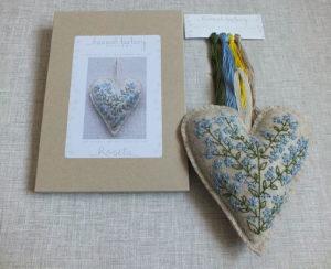 Hannah Burbury Rosita Forget Me Not Heart Hand Embroidery Kit