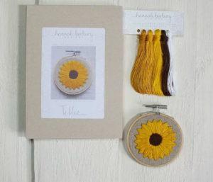 Hannah Burbury Tillie Sunflower Embroidery Hoop Kit