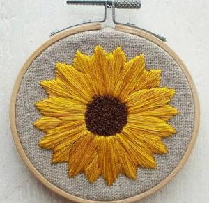 Hannah Burbury Tillie Sunflower Embroidery Kit