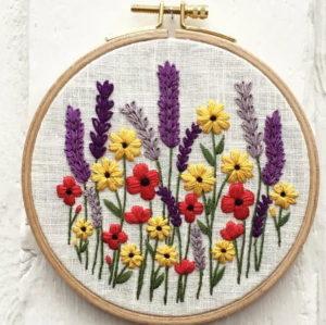 Hannah Burbury Wilma Floral Embroidery Kit