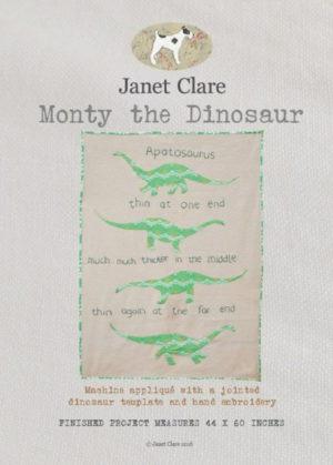 Janet Clare Monty The Dinosaur Quilt Pattern