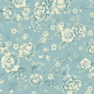 Makower Bluebird Dahlia Wild Blue by Edyta Sitar