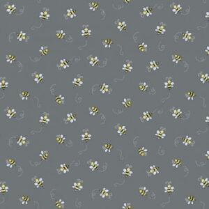 Makower Bumble Bee Dark Grey