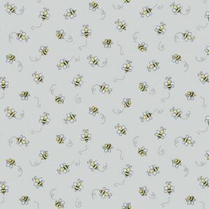 Makower Bumble Bee Light Grey