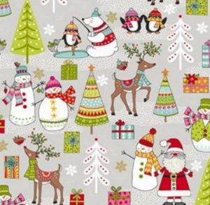 Makower Christmas 2019 Festive Scene