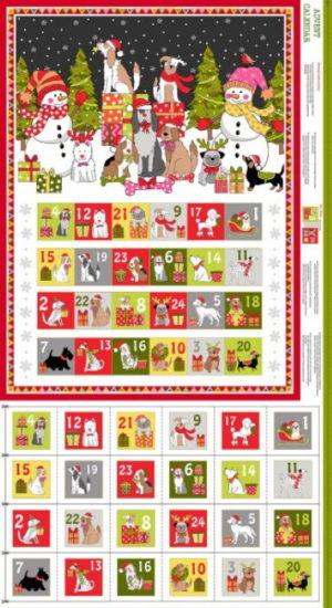 Makower Christmas advent Calendar Panel
