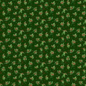 Makower Christmas Classic Holly Spray Greenjpg