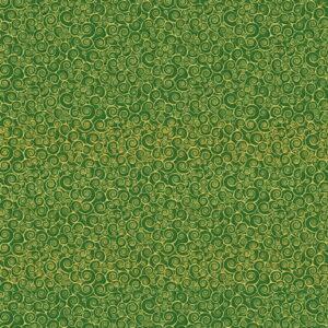 Makower Christmas Classic Rhapsody Scroll Green