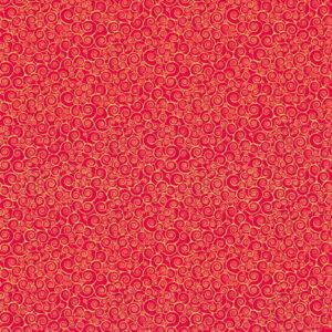 Makower Christmas Classic Rhapsody Scroll Red