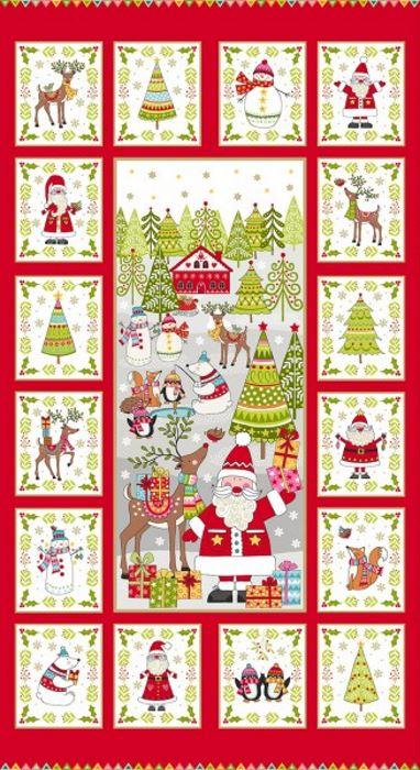 Makower Christmas Festive Panel 2019