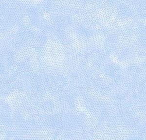 Makower Dimples Sprigs Light Blue