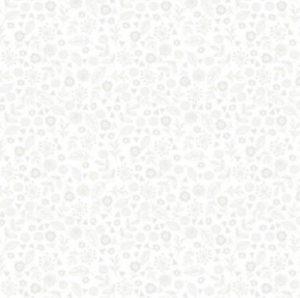 Makower tone on tone white floral fabric