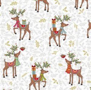Makower Festive Christmas 2019 reindeer