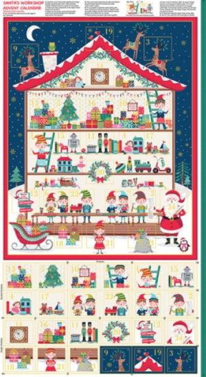 Makower Let It Snow Advent Calendar Panel