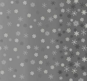 Makower Scandi Christmas 2021 Grey Ombre Snowflake