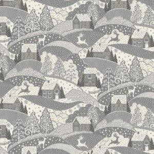 Makower Scandi Christmas 2021 Scenic Grey
