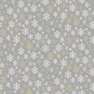 Makower Scandi Christmas 2021 Snowflakes Grey