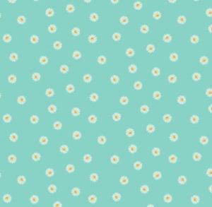 Makower Spring Daisy Turquoise