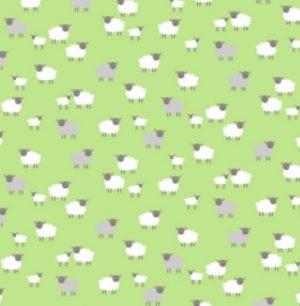 Makower Spring Sheep Green