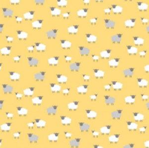 Makower Spring Sheep Yellow