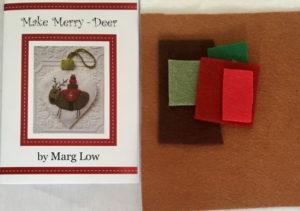 Marg Low Christmas decoration Kit Make Merry Dove