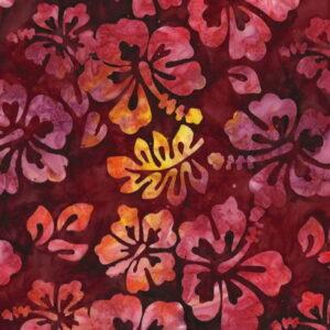 ichael Miller Tropical Hibiscus Batik Sangria